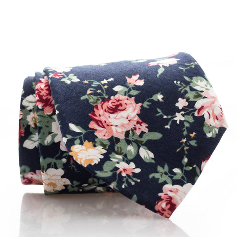 Large Navy Floral - Extra Long - 62""