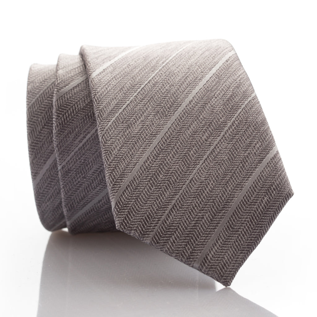 Grey Tweed Youth Skinny Tie