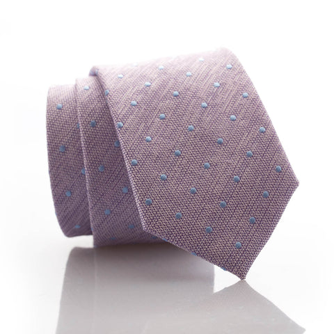 Light Purple Dot Youth Skinny Tie