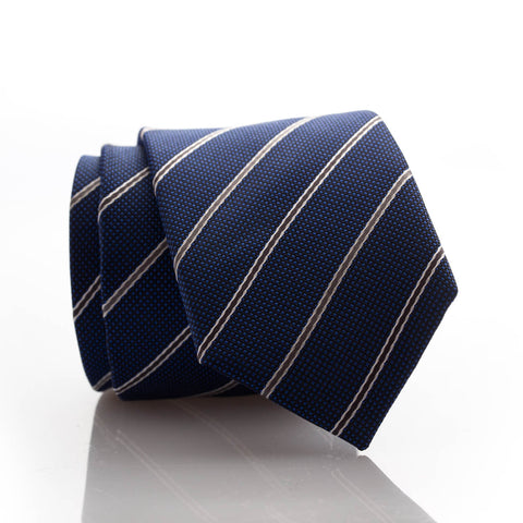Royal Blue Stripe Youth Skinny Tie