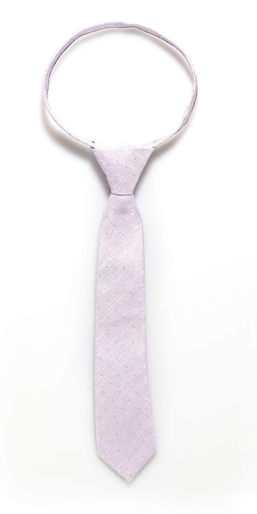 Light Purple Dot Zipper Tie