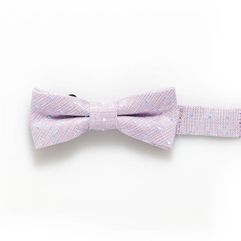 Light Purple Dot Baby/Kids Bow Tie