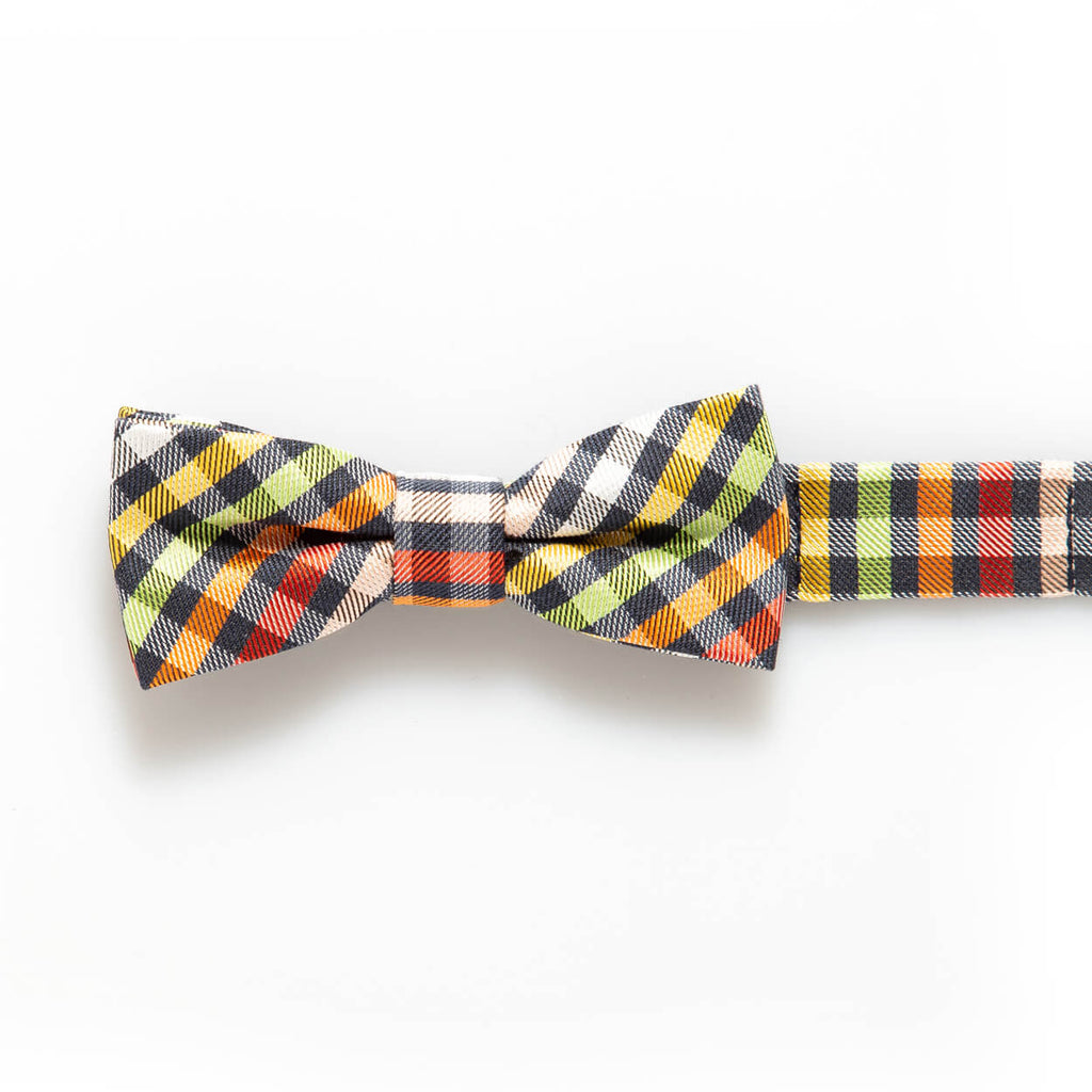 Rainbow Plaid Baby/Kids Bow Tie