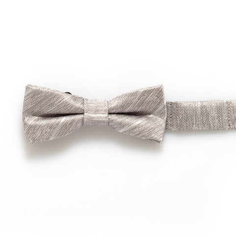Grey Tweed Baby/Kids Bow Tie