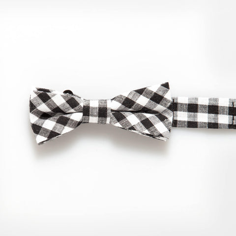 Black Gingham Baby/Kids Bow Tie