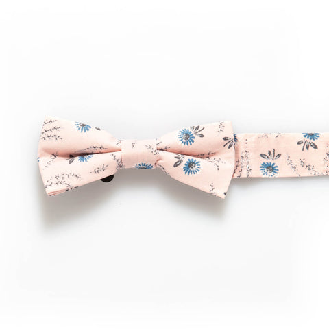 Soft Pink Floral Baby/Kids Bow Tie