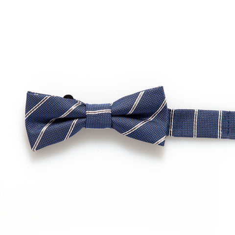 Royal Blue Stripe Baby/Kids Bow Tie