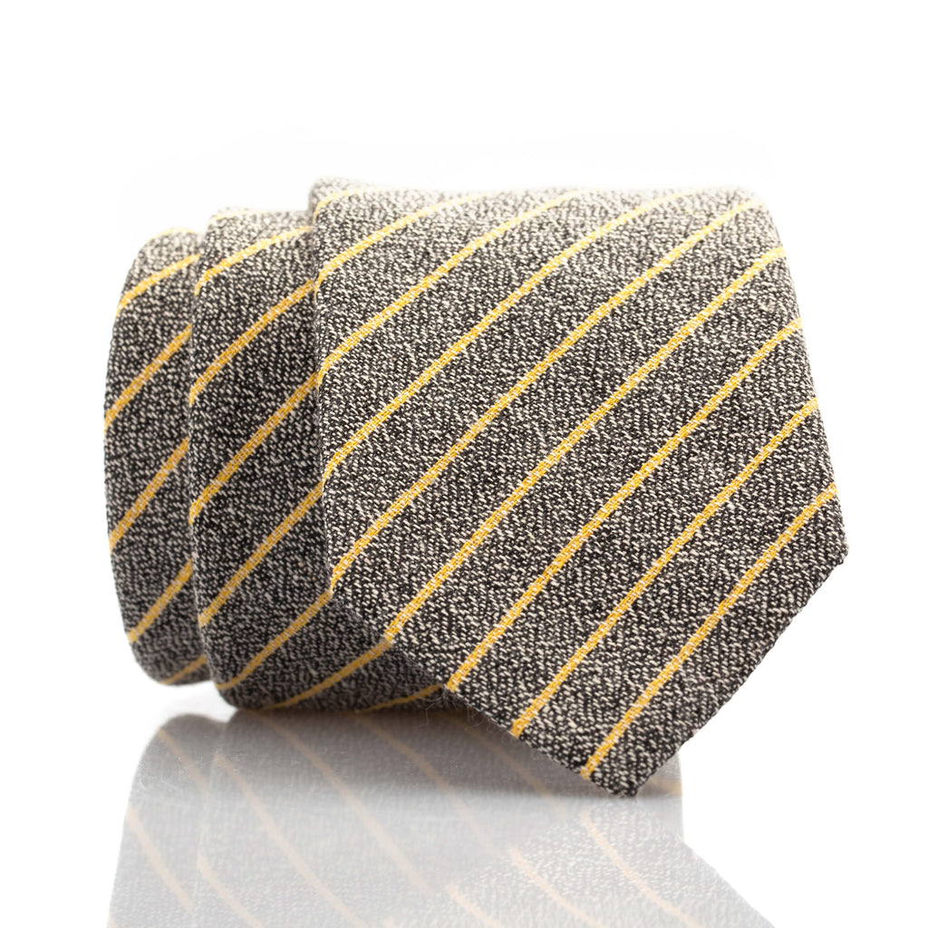 Charcoal Yellow Stripe - Skinny