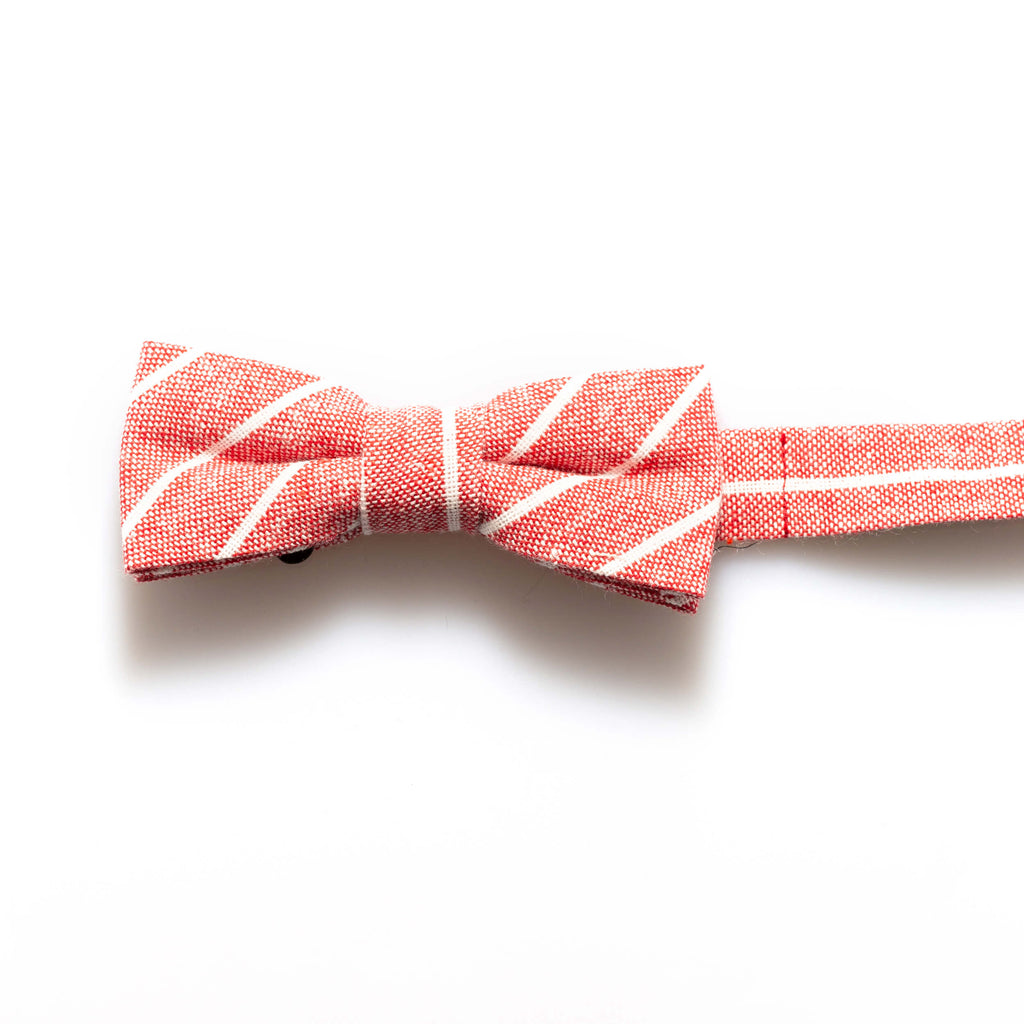 Red Denim Stripe Baby/Kids Bow Tie
