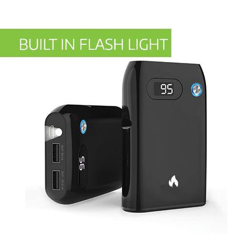 CHJGD® Opus Mini - Premium Qualcomm Quick Charge 3.0 enabled 10,500 mAh Power Bank with LCD display (Black) - CHARGEDPOWER.COM