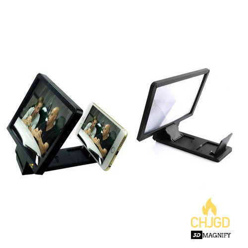 CHJGD 3D Enlarged Screen Magnifier - Black - CHARGEDPOWER.COM