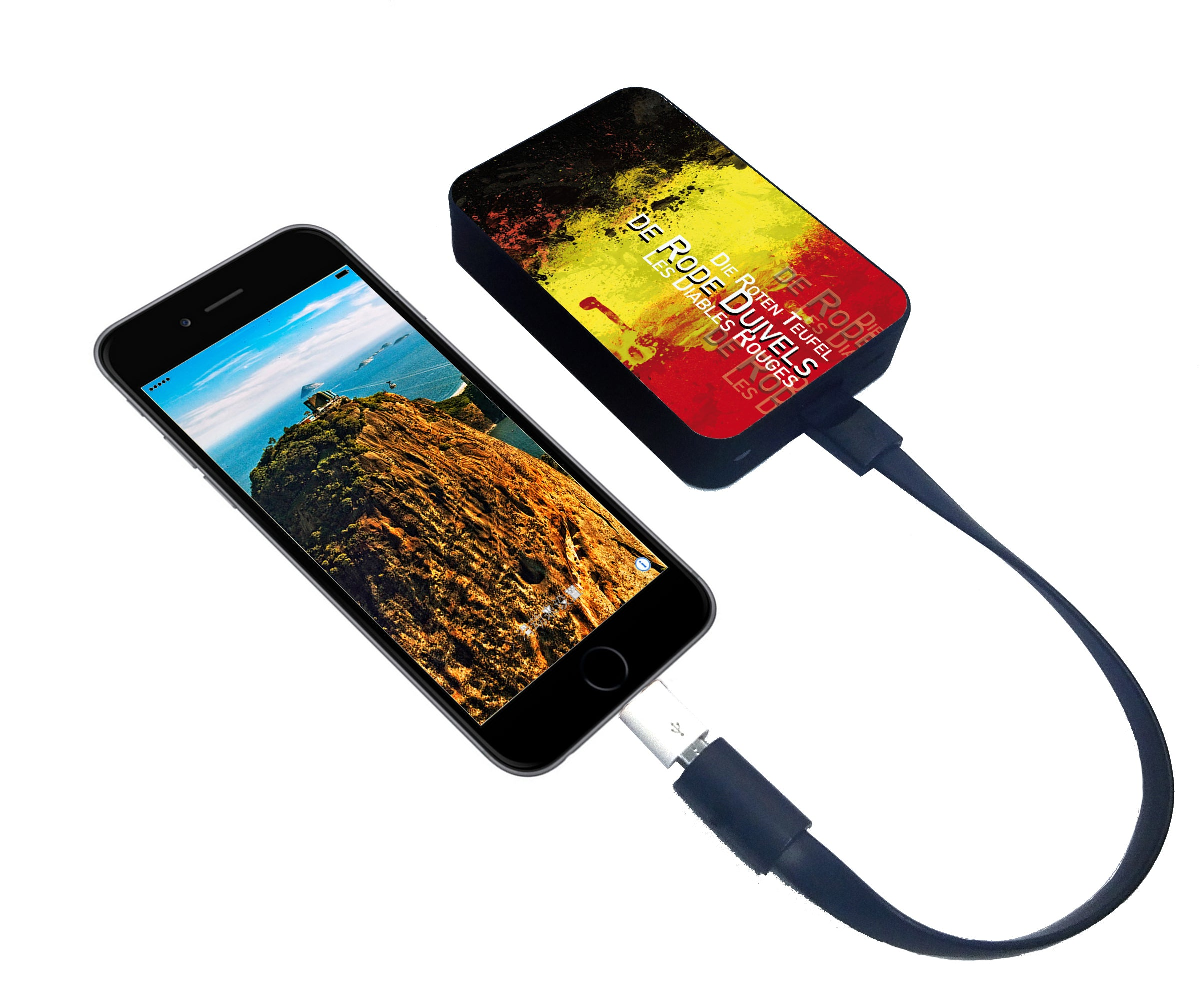 World's Smallest 10,000 mAh Power Bank - CHJGD Ultracompact (Belgium World Cup) - CHARGEDPOWER.COM