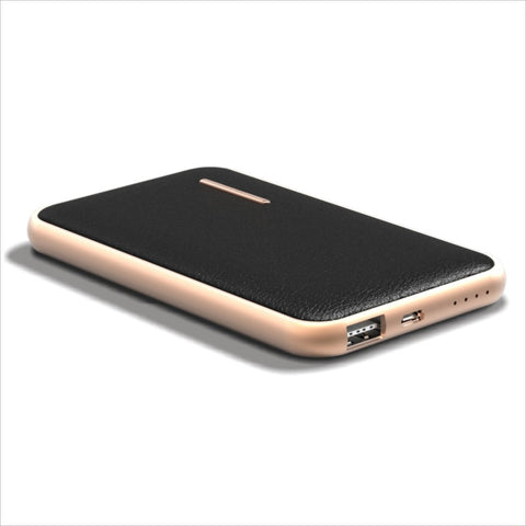 CHJGD® MIDAS Premium Luxury Li-Polymer Power Bank, 8000mAh / Portable Charger (Black) - CHARGEDPOWER.COM