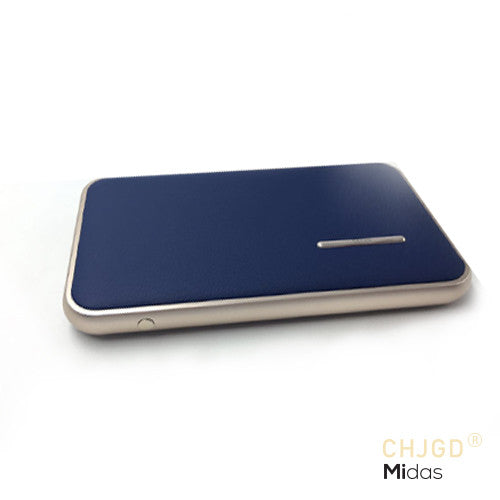 CHJGD® Midas Premium Luxury Li-Polymer Power Bank, 8000mAh / Portable Mobile Charger (Sapphire Blue)