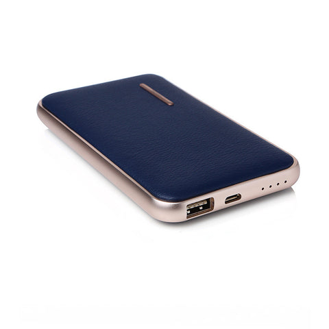 CHJGD® Midas Premium Luxury Li-Polymer Power Bank, 8000mAh / Portable Mobile Charger (Sapphire Blue) - CHARGEDPOWER.COM