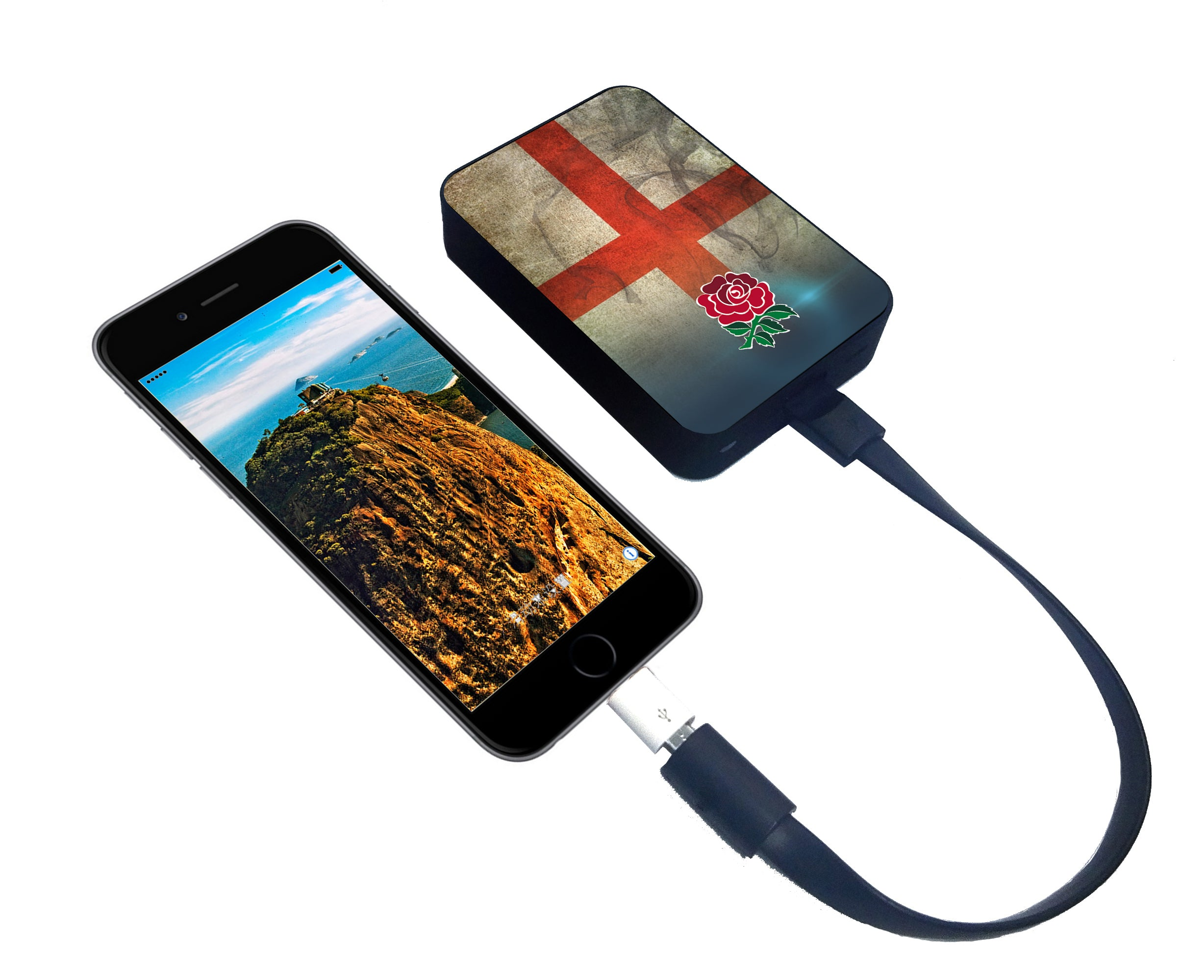 World's Smallest 10,000 mAh Power Bank - CHJGD Ultracompact (England Rugby)