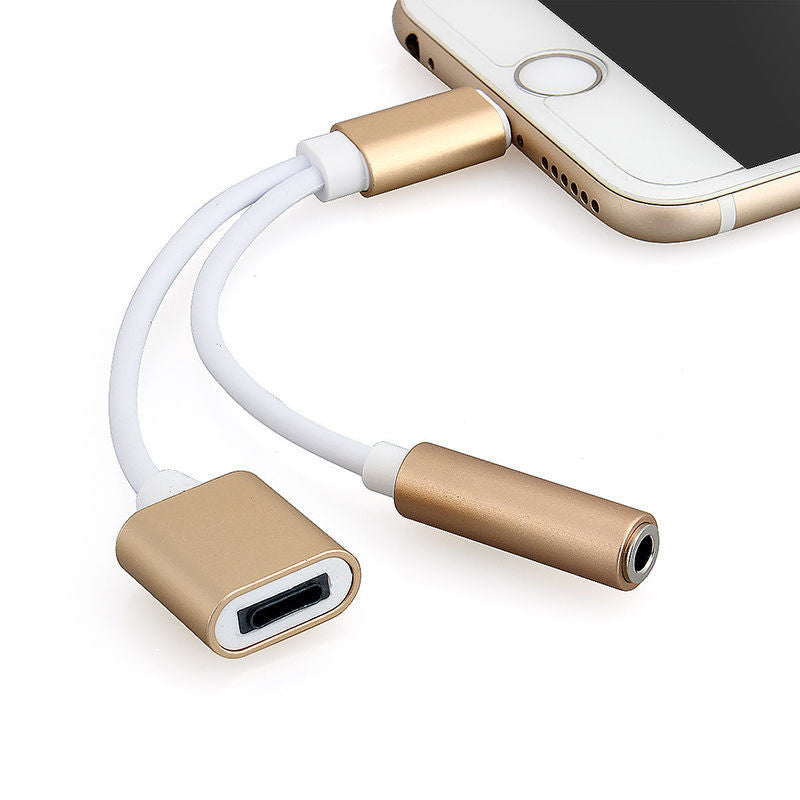 CHJGD® 2-in-1 Lightning to 3.5mm Headphone Jack Adaptor Cable (for iPhone 7)