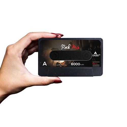 CHJGD® KASET 6,000 MAH POWERBANK - ROCK MIX. - CHARGEDPOWER.COM