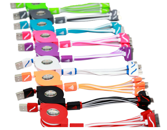 Retractable and Tangle Free Colourful Multi-Chargers