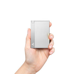 CHJGD® Power 1500 mAh Super Slim Credit Card Size Power Bank (Silver) - CHARGEDPOWER.COM