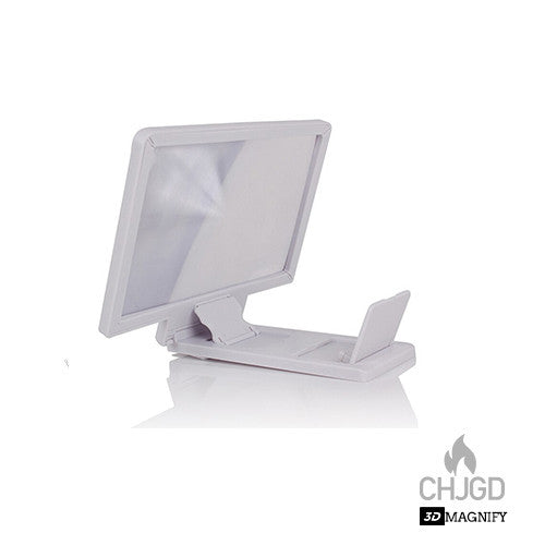 CHJGD 3D Enlarged Screen Magnifier - White