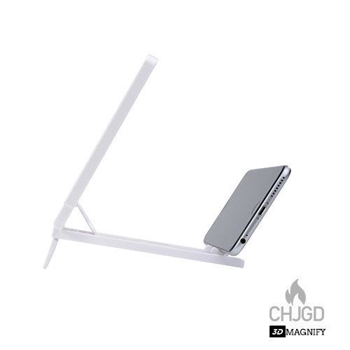 CHJGD 3D Enlarged Screen Magnifier - White - CHARGEDPOWER.COM