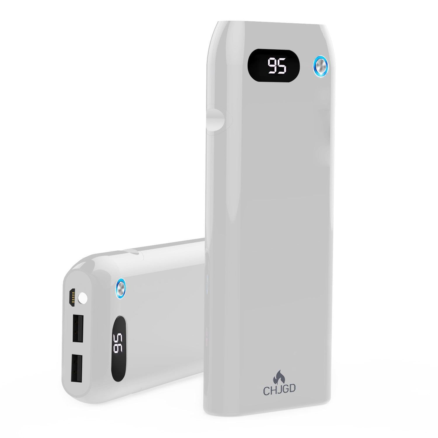 CHJGD® Magnum Opus- Qualcomm Quick Charge 3.0 enabled 21,000 mAh Power Bank with LCD display (White) - CHARGEDPOWER.COM
