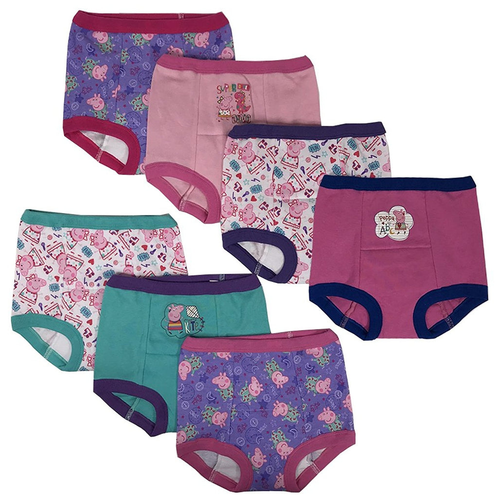 469304995a01 Handcraft Peppa Pig Girls Potty Training Pants Panties Underwear Toddler  7-Pack Size 2T 3T
