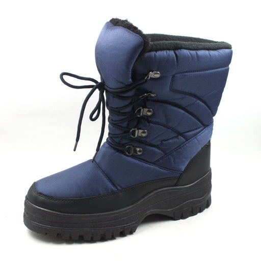 7702 Mens Lace-Up Snow Boots - Mobesano