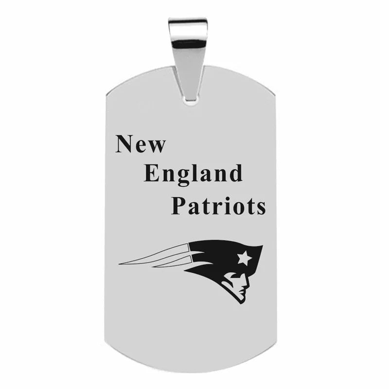 316L Stainless Patriots Dog tag with NFL team logo