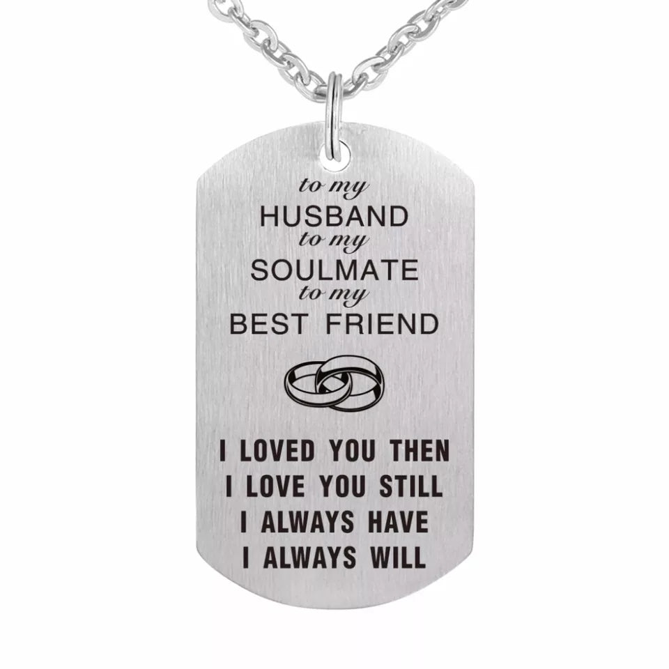 """ To my Husband""  Charm"