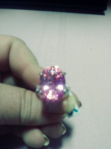 18KT Pink Sapphire ring