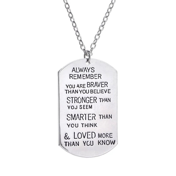 "Stainless Steel ""Always Remember"" charm or keychain"