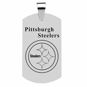 316L Stainless Steelers Dog tag with NFL team logo