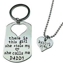 Daddy Keychain & Necklace set