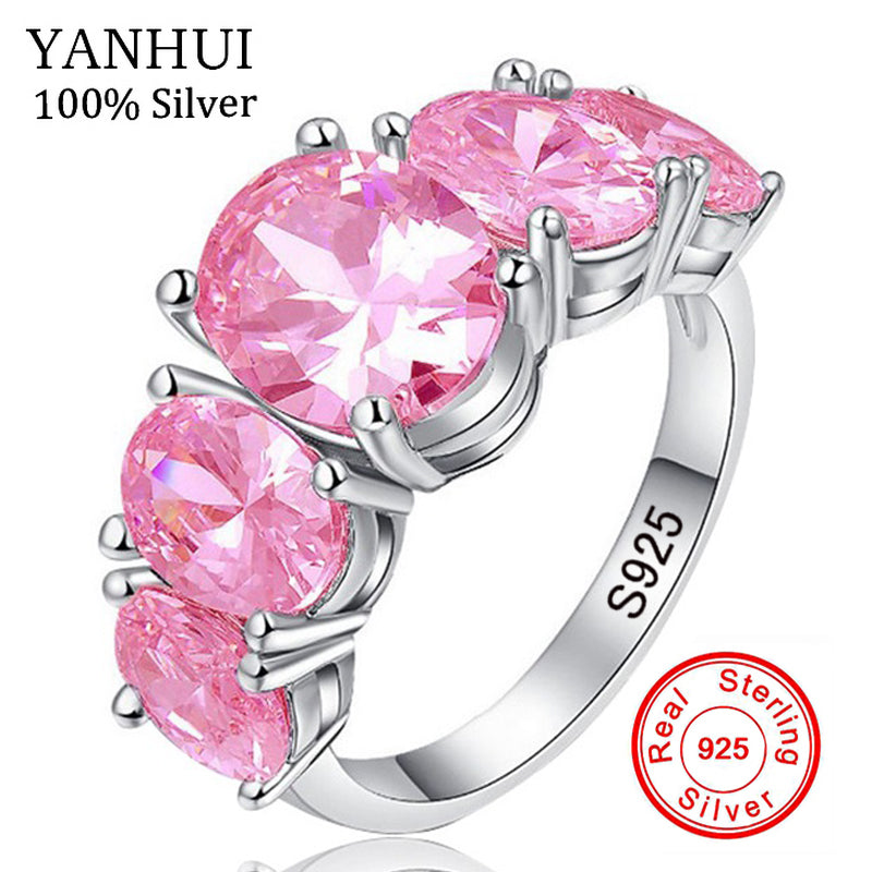 5 Stone Pink Ice ring