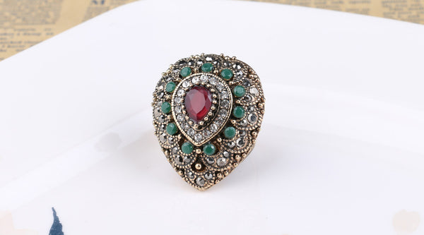 Teardrop Shaped Persian Ring