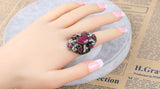 Round Shaped Persian Cross Ring