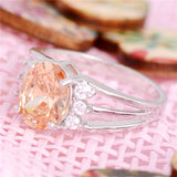 Oval Champagne stone ring