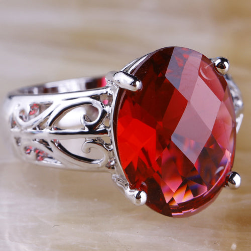 Large Oval Garnet ring