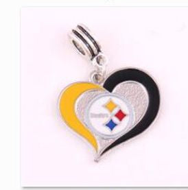 Heart shaped NFL enamel charm many teams
