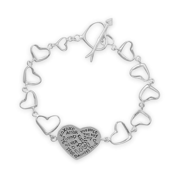 lamour-sterling-silver-linked-heart-bracelet/virgo-starlight