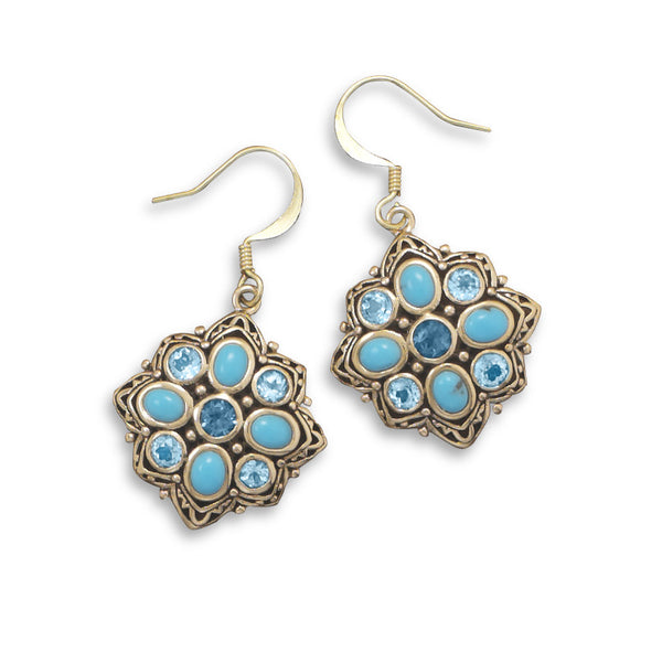 mystical-blue-topaz-and-turquoise-earrings/virgo-starlight