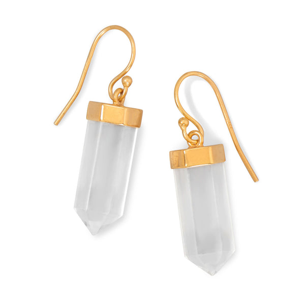 Goddess-Clear-quartz-earrings-14k-gold-plated-sterling-silver/virgo-starlight