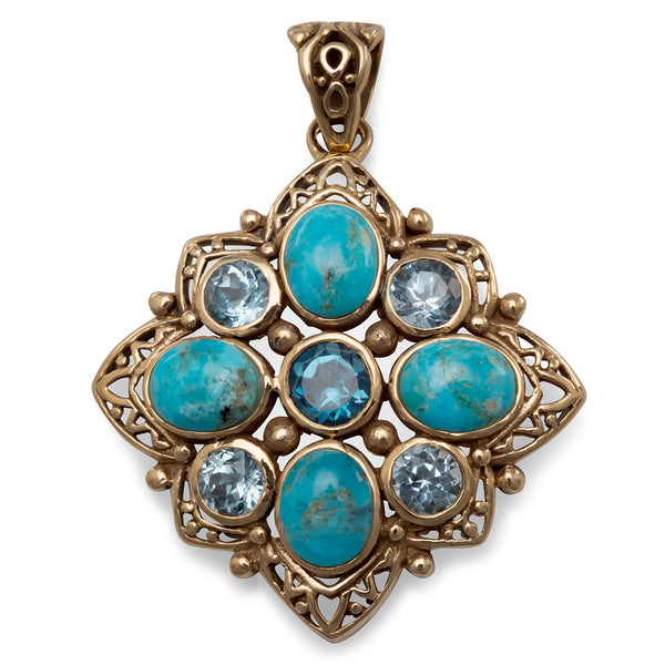 mystical-blue-topaz-and-turquoise-pendant/virgo-starlight