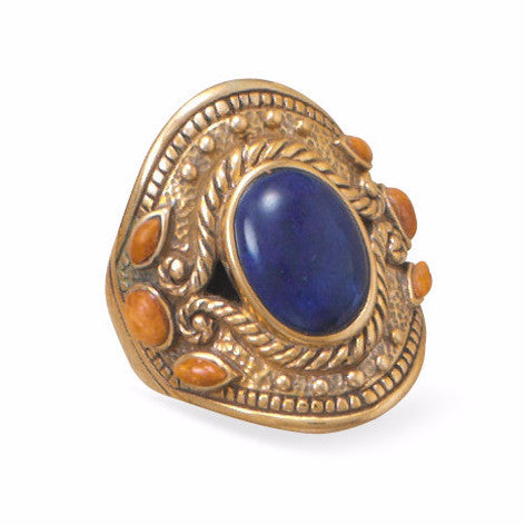 bohemian-spirit-lapis-coral-bronze-ring/virgo-starlight