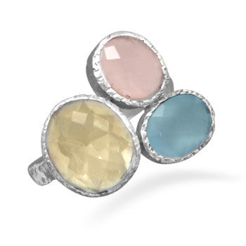 Quartz and Chalcedony Ring