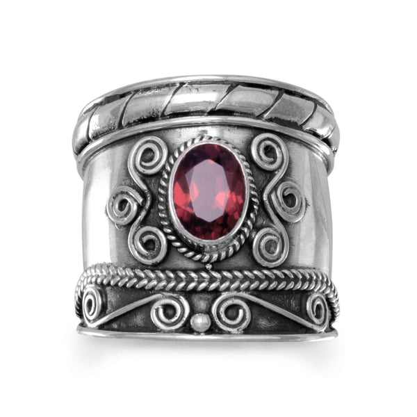 Bohemian Spirit Garnet Ring Handcrafted in Bali