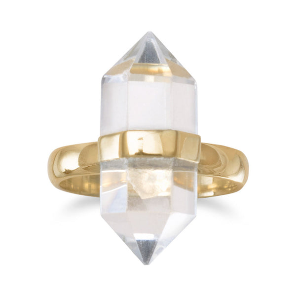 Mystical-Clear-Quartz-Ring/Virgo-Starlight
