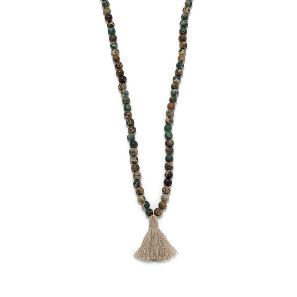 zen-jasper-mala-bead-tassel-necklace/virgo-starlight